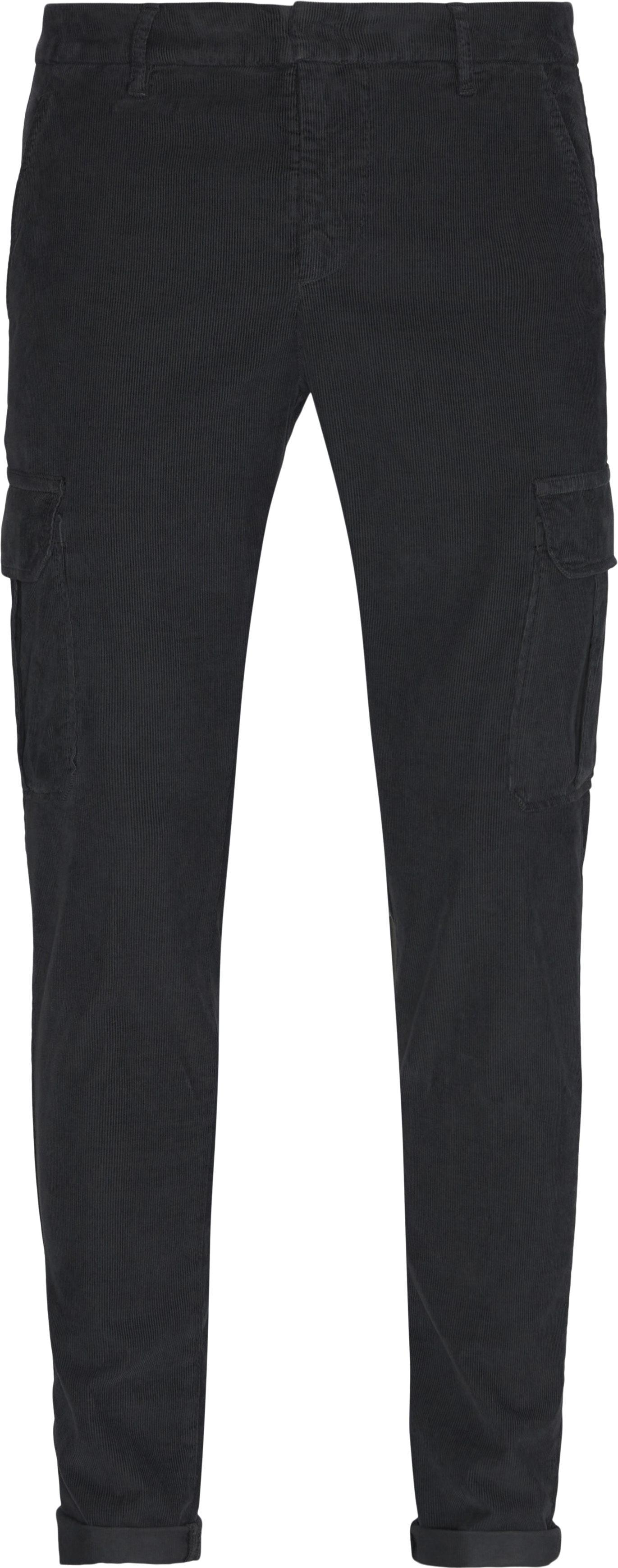 Corduroy Pants - Bukser - Slim fit - Grå